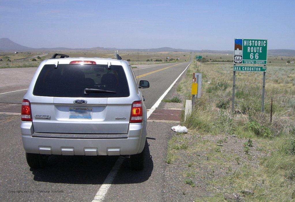 In auto sulla Historic Route 66