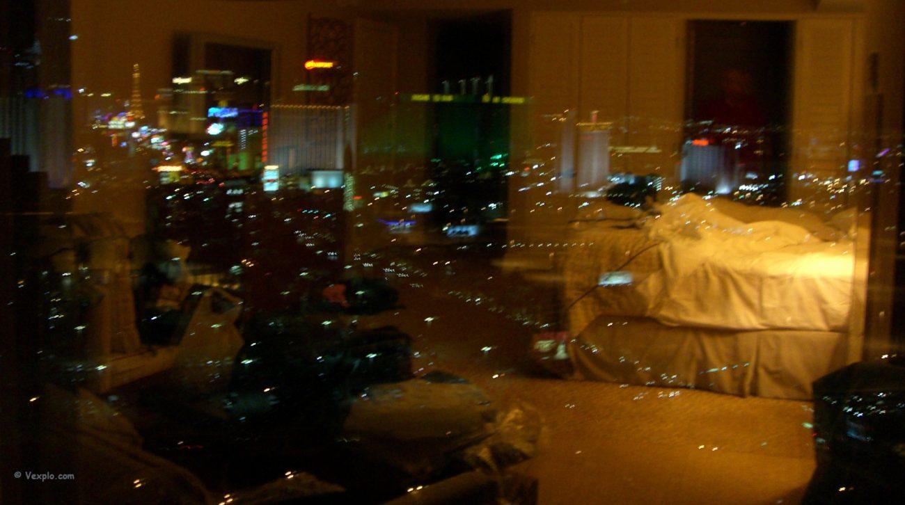 La Strip dalla finestra del Mandalay