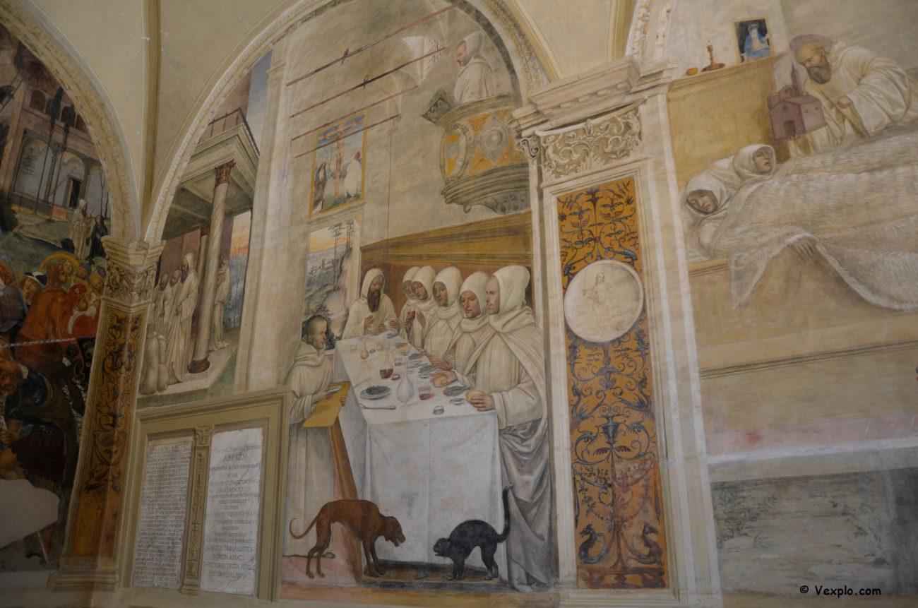 Affreschi del chiostro dell'Abbazia di Monte Oliveto Maggiore