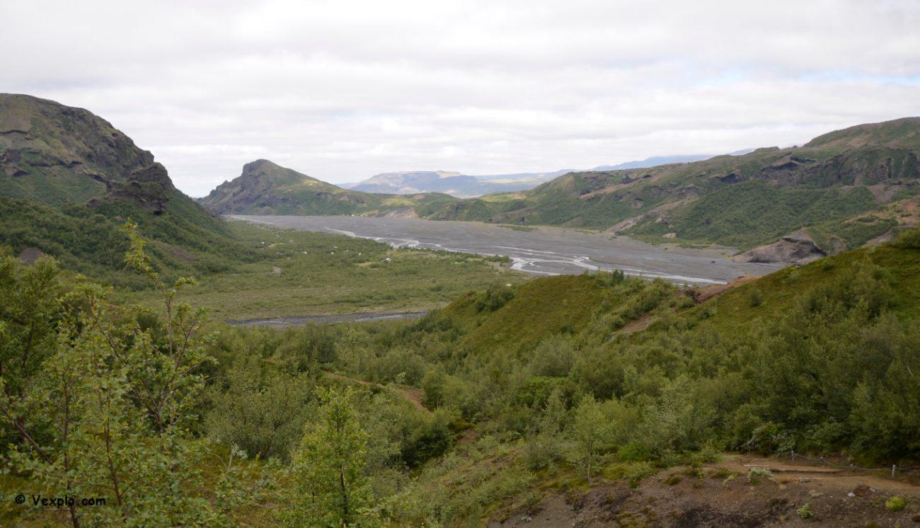 Arrivo a Þórsmörk del sentiero Fimmvðuhàls