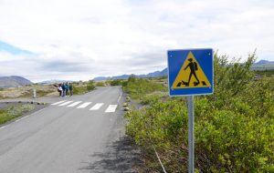 """Segnale """"attraversamento sub"""" in Islanda"""