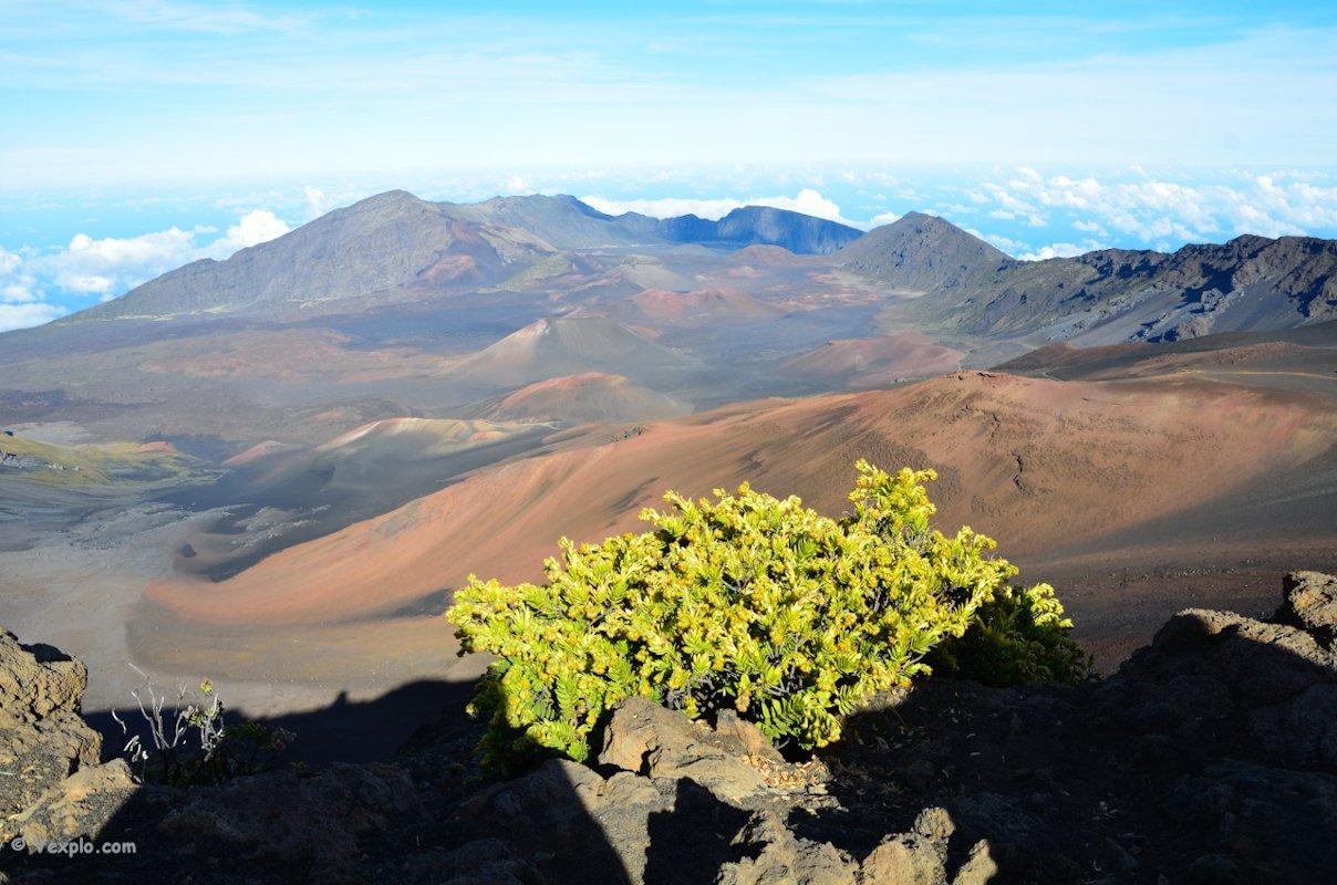 Cratere di sommità del vulcano Haleakala.