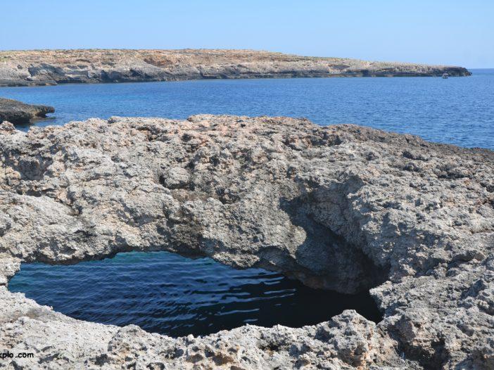Arco naturale a Lampedusa