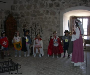Scolaresca nel castello di Consuegra