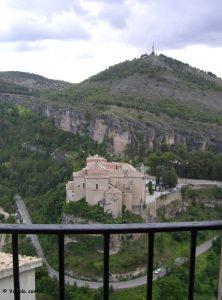 Vista dal balcone dell'Hotel Leonor de Aquitania a Cuenca.
