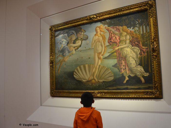 Ammirando la Nascita di Venere.