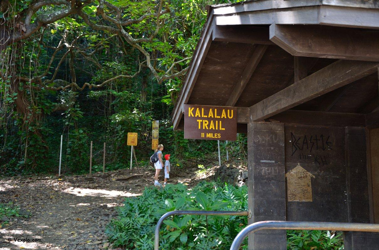 L'inizio del Kalalau Trail, Kauai.