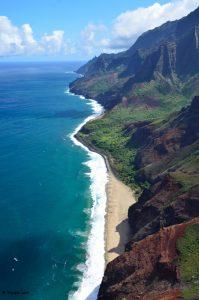 La Na Pali Coast di Kauai.