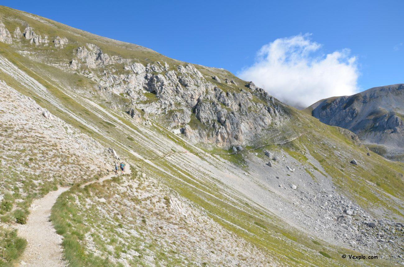Scalata del Gran Sasso - Sentiero per la Sella dell'Aquila.